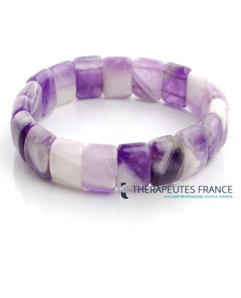 Bracelet améthyste pierre plaquette