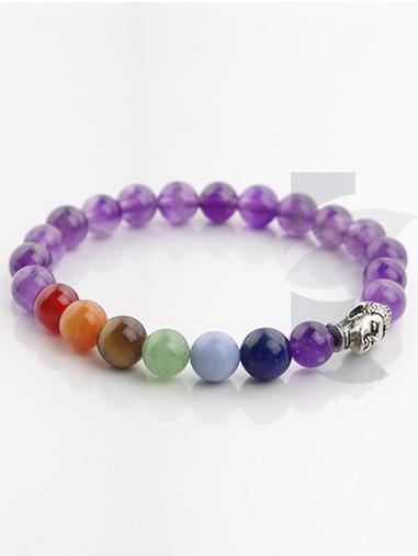 bracelet 7 chakras améthyste